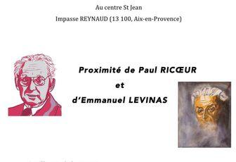 PROXIMITÉ DE RICOEUR ET DE LEVINAS