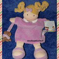 Doudou marionnette poupée Mario, Les demoiselles, rose, Doudou et compagnie, doudoupeluche.fr