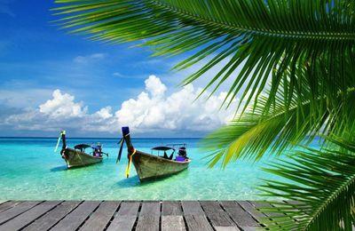 Paysage - Thaïlande - Plage - Bateaux - Photographie - Wallpaper - Free