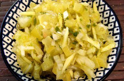 Rougail citron confit réunionnais (sauce citron)