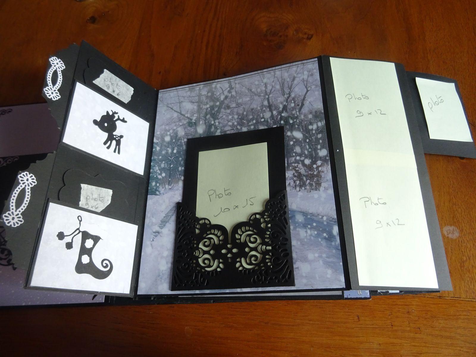 des tags à tirer sur le coté gauche pour mettre des photos et aussi dans les petites pochettes à gauche