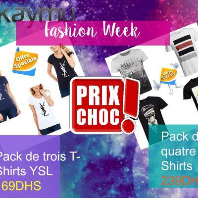 La campagne Fashion week : des prix choc pour une semaine
