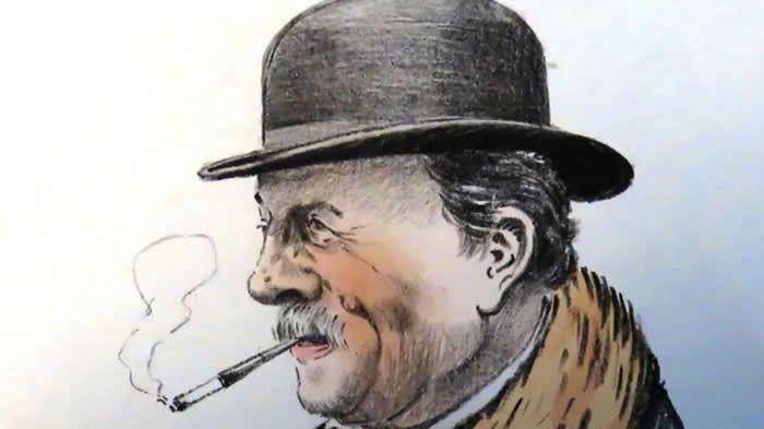 Achille Gentil, notaire de Prahecq devenu président du conseil général et sénateur, peitn par Amiaux vers 1920