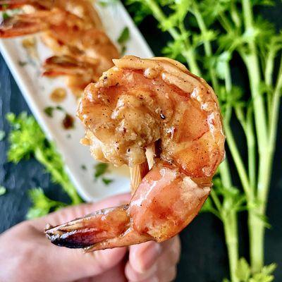Crevettes tropicales laquées