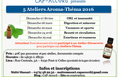 Ateliers Aroma Programme 2016