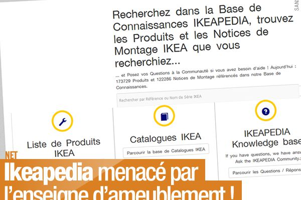 Ikeapedia menacé par l'enseigne d'ameublement ! #BadBuzz