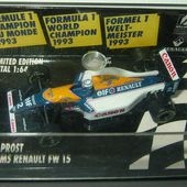 F1 WILLIAMS RENAULT FW 15 ALAIN PROST 1993 MINICHAMPS 1/64 - car-collector.net