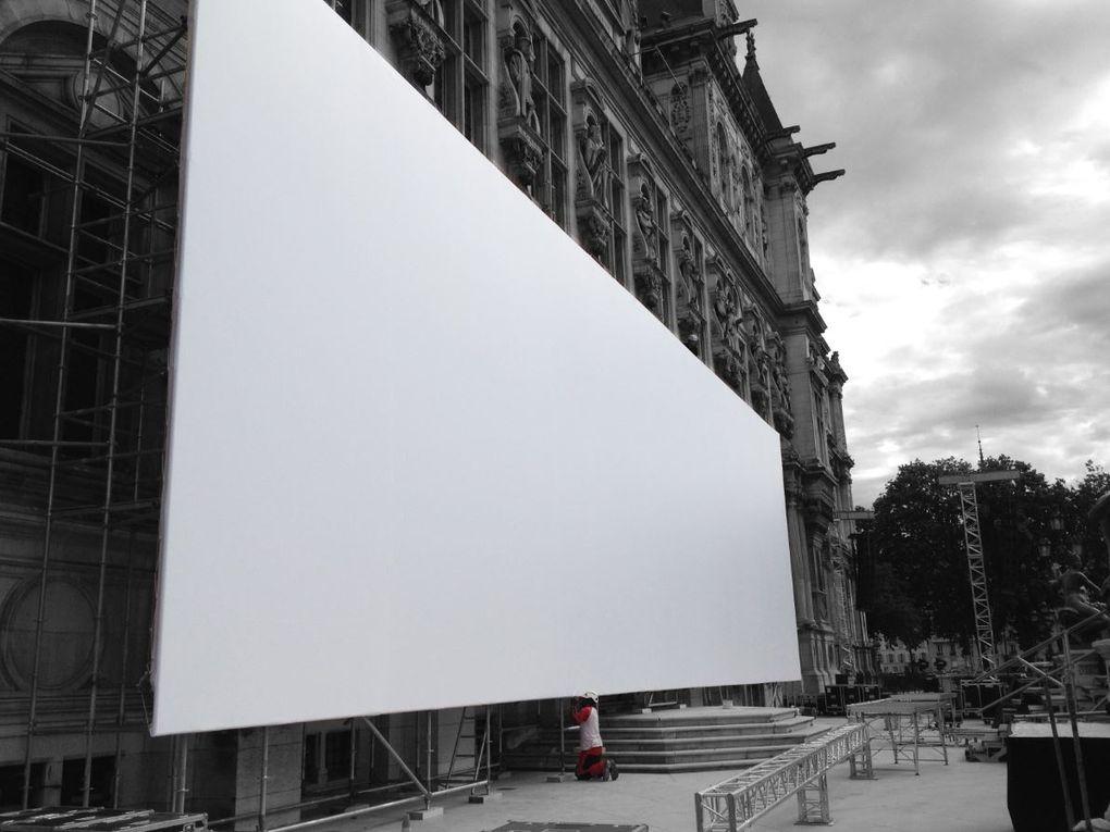 A l'occasion du 70e anniversaire de la Libération de Paris, de nombreuses commémorations sont organisées dans la capitale. Le point d'orgue de ces cérémonies est une soirée exceptionnelle de festivités sur le parvis de l'Hôtel de Ville. Un sp