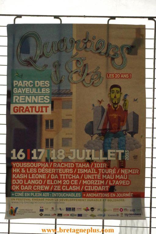 Seconde journée , du Festival Quartiers D' été 2013, ce mercredi 17 juillet. avec comme tête d'affiche YOUSSOUPHA