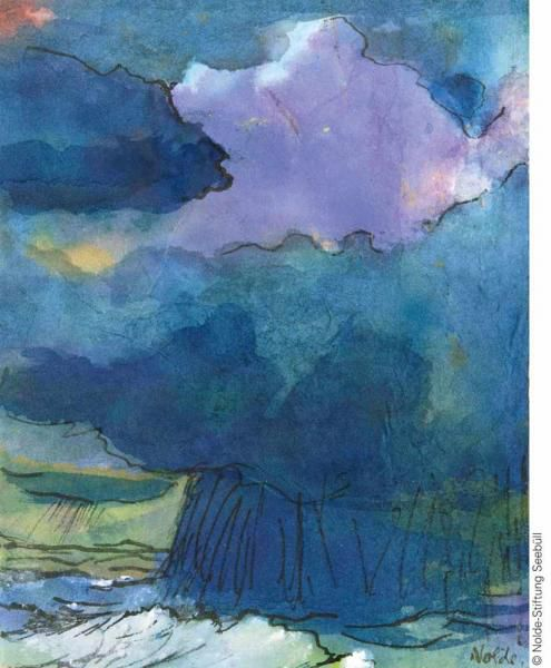 Emil Nolde - Thunderstorm over the North Sea