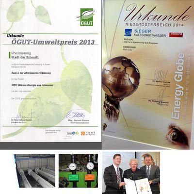 La Wärmetower & la récupération de chaleur sur eaux usées primées en Autriche