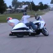 Victory Vision Police Motorcycle turns tight