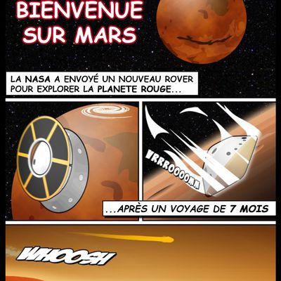 BD sur l'arrivé de Perseverance sur Mars