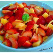 Salade de fraises et melon - La cuisine de poupoule