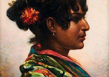 Une femme aux yeux noirs (Victime de féminicide)