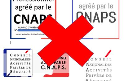 Quand le CNAPS fait du zèle ! (Logo du CNAPS sur site internet)