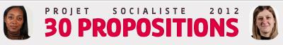 Le Projet socialiste pour 2012 en 30 propositions