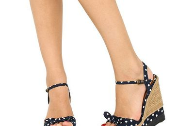 Chaussure femme compensee ete