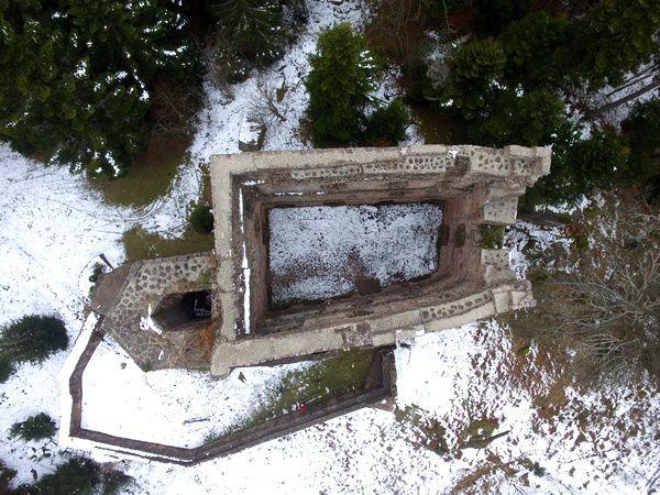 Le Birkenfels, vu du ciel