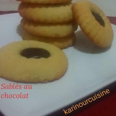 Sablés au chocolat goût halwet turc.....صابلي بالشكولاكةذوق حلوة الترك