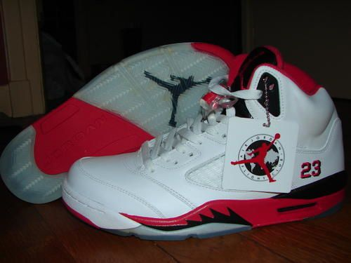 Nike Air Jordan V Retro (White/Fire Red/Black/#23)