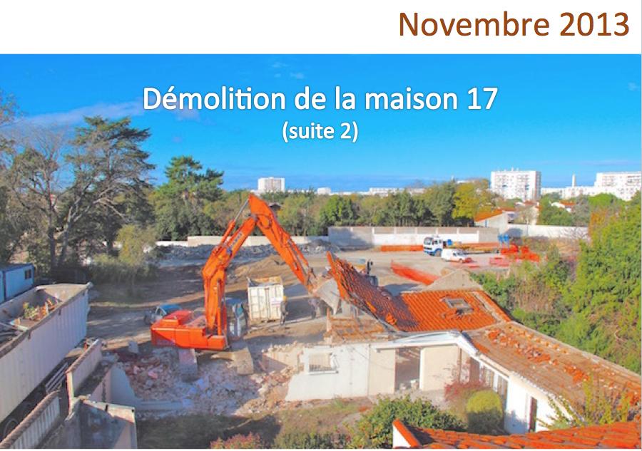De 2013 à 2015, les différentes étapes de la construction du Domaine Eugène Delacroix
