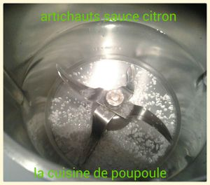 Artichauts sauce citron au thermomix