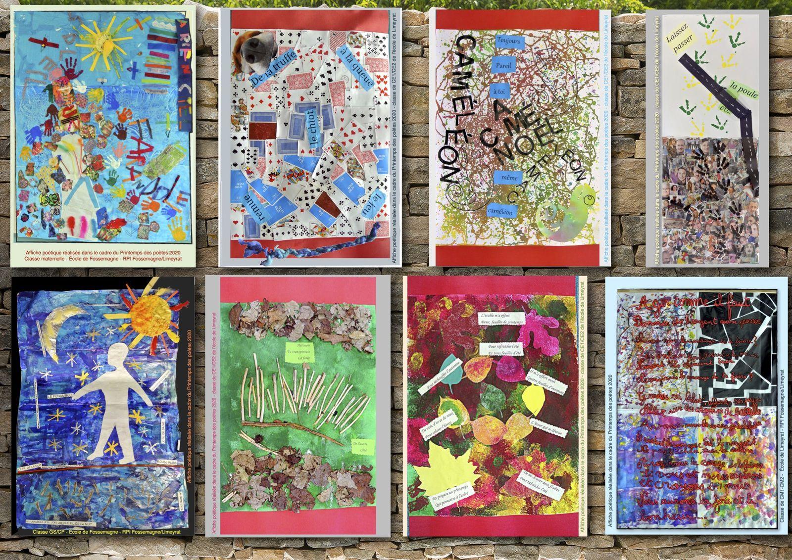 Les affiches poétiques des classes du RPI Fossemagne/Limeyrat