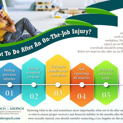What Not To Do After An On-The-Job Injury?
