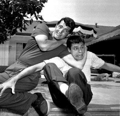 Jerry Lewis et Dean Martin (à droite) dans le film Mon bonne amie Irma (My Friend Irma) en 1949