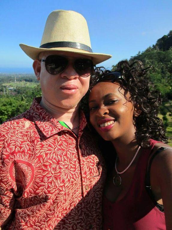 Imágenes de Isaac Mwaura y su flamante esposa. Isaac Mwaura es el Coordinador de la Sociedad Keniana de Albinismo.- El Muni.