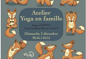 Atelier de yoga en famille le dimanche 3 décembre