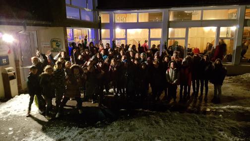 Les Estables : arrivée sous la neige !