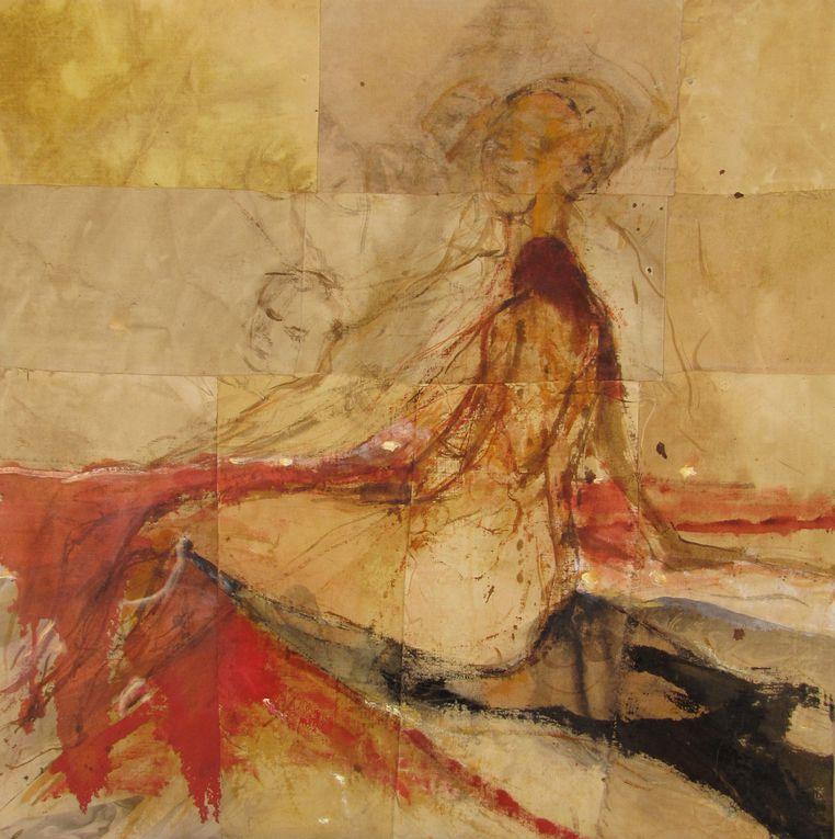 ces toiles ont été réaliser à la suite de deux performance et installations