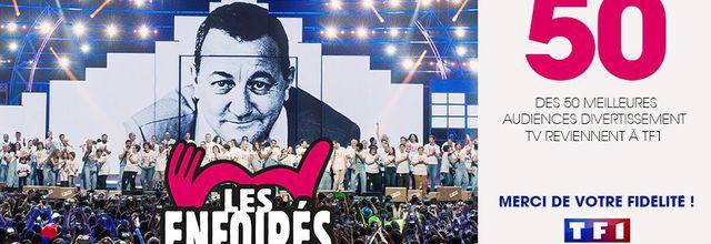 50 des 50 meilleures audiences de divertissement obtenues par TF1 en 2020