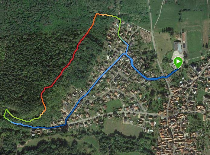 Parcours de la course Benjamins (es) et Minimes 2700m 80D+