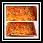 Gratin courgettes, aubergines, poivrons et chorizo au thermomix ou sans - La cuisine de poupoule