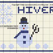 Grille gratuite point de croix : ATC Hiver - Le blog de Isabelle