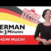 Learn German - German in Three Minutes - How Much? - LINGUE SENZA SFORZO