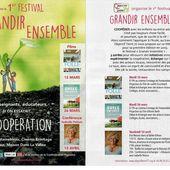 1er festival GRANDIR ENSEMBLE par Objectif Terre 77 à Fontainebleau/Avon en Mars et Avril