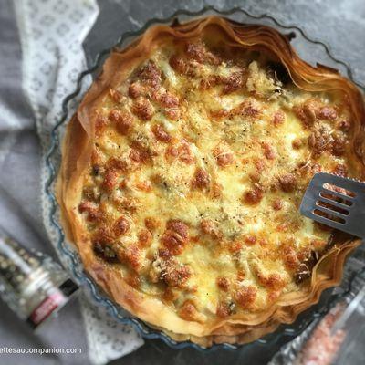 Tarte croustillante champignons mozzarella de Cyril Lignac