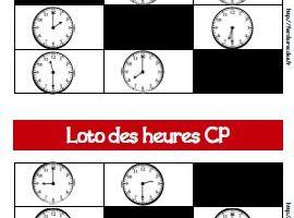 Loto des heures CP-CE1