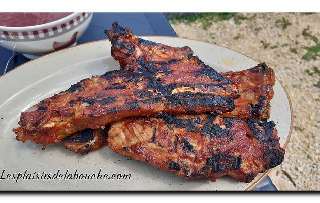 Ribs de porc, sauce barbecue au whisky