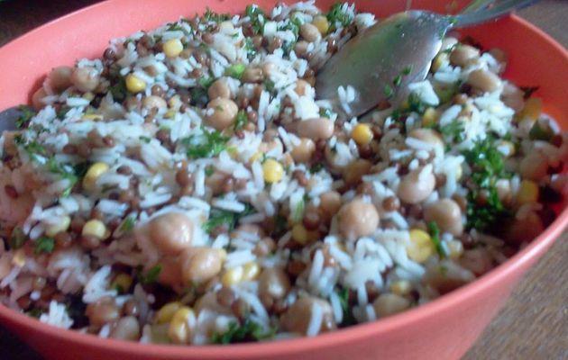 Salade de légumineuses et de riz