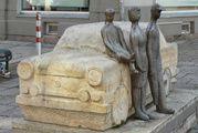 Zwickau : le monument Trabant change de place.