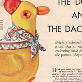 How To Make Vintage Stuff Toys: The Ducking and The Dachshund
