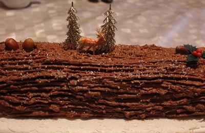 Bûche de Noël - Chocolat / Noisette