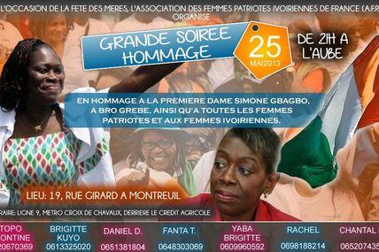 Soirée Fête des Mères / Hommage à Simone Gbagbo - 25 mai à Montreuil