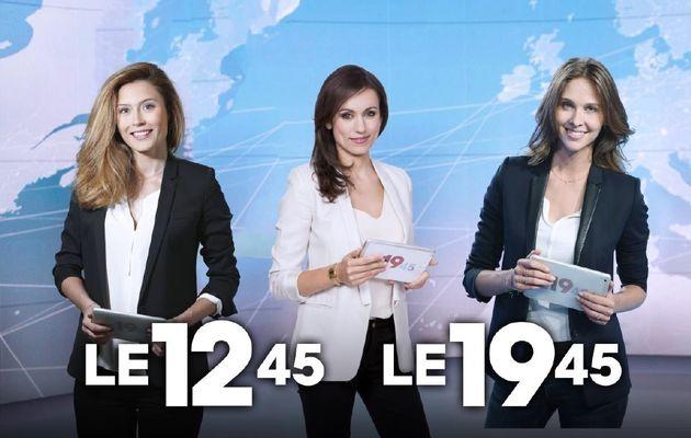 Vacances d'hiver 2018 : Diane Douzillé, Marie-Ange Casalta et Ophélie Meunier à la présentation du JT de M6