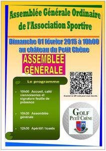 L'Assemblée Générale 2014 de l'Association Sportive le dimanche 01 février